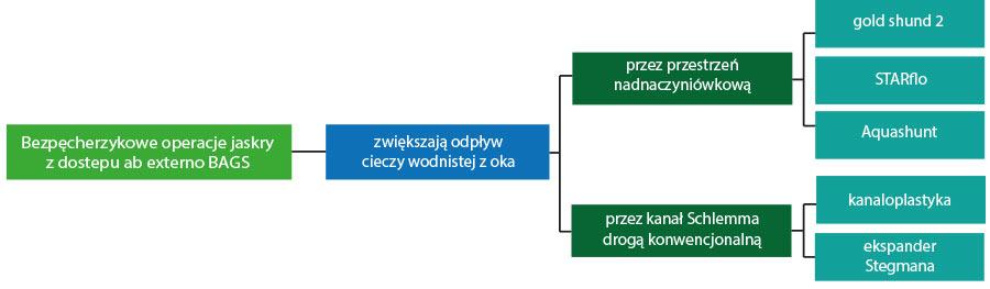 Ryc. 1. Bezpęcherzykowe procedury zdostępu ab externo